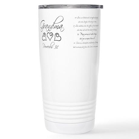 script grandma mug.png Travel Mug