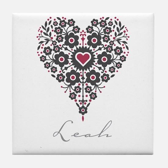 Love Leah Tile Coaster
