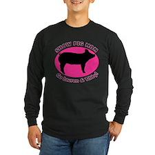 Show Pig Mom - Customized Long Sleeve T-Shirt