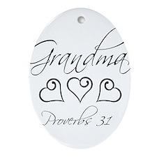 script grandma.png Ornament (Oval)