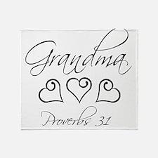 script grandma.png Throw Blanket