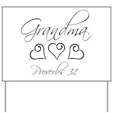 script grandma.png Yard Sign