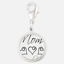 script mom.png Silver Round Charm
