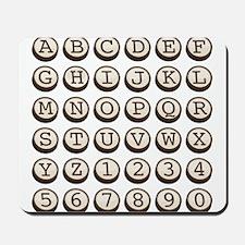 Old Fashioned Typewriter Keys Mousepad