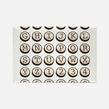 Old Fashioned Typewriter Keys Rectangle Magnet