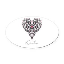 Love Leila Oval Car Magnet
