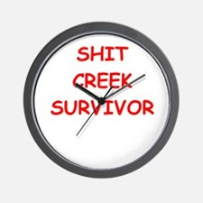 shit creek Wall Clock