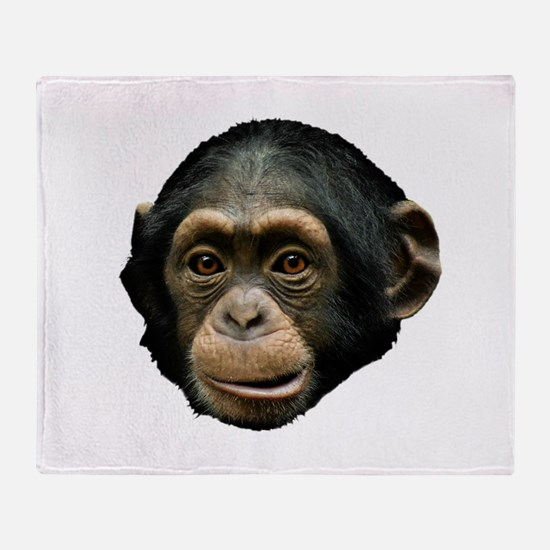 Chimp Face Throw Blanket