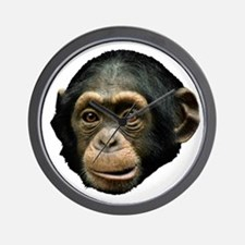 Chimp Face Wall Clock