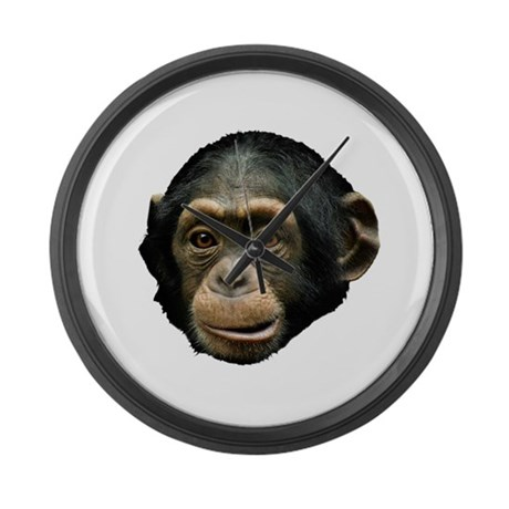 Chimp Face Large Wall Clock By Youlikethisshop