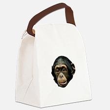 Chimp Face Canvas Lunch Bag