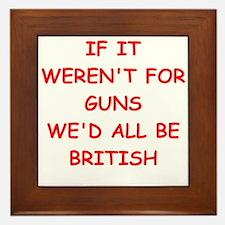 guns Framed Tile