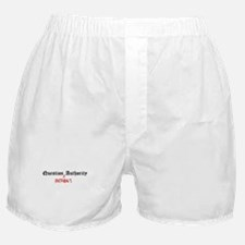 Question Cristobal Authority Boxer Shorts