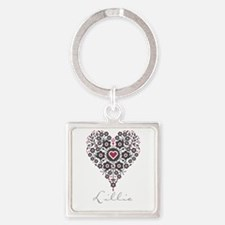 Love Lillie Square Keychain