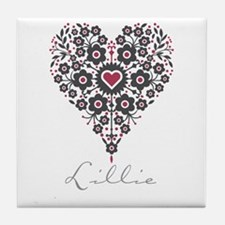 Love Lillie Tile Coaster