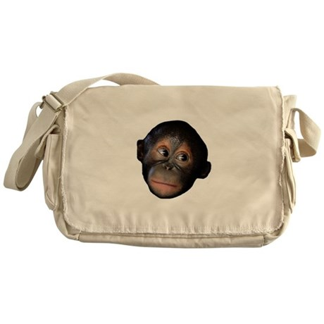 Baby Orangutan Face Messenger Bag