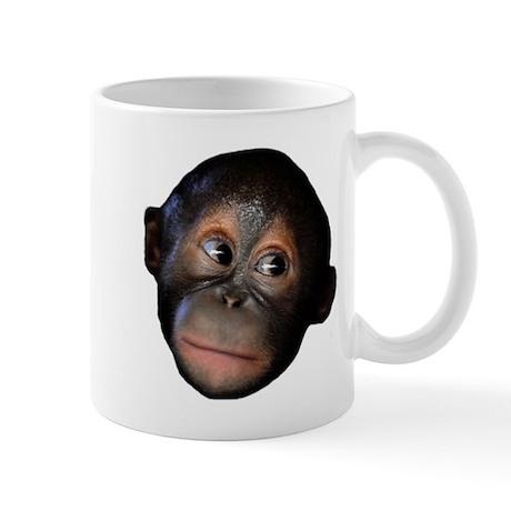 Baby orangutan face mug by youlikethisshop for Animal face mugs