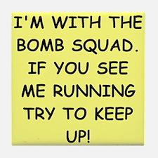 bomb squad Tile Coaster