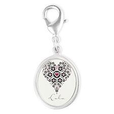Love Lola Silver Oval Charm