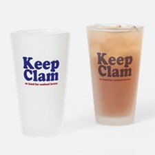Keep Clam Drinking Glass