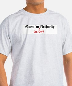 Question Greyson Authority Ash Grey T-Shirt