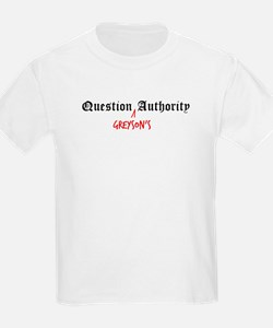 Question Greyson Authority Kids T-Shirt