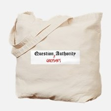 Question Greyson Authority Tote Bag