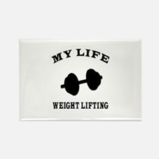 My Life weight Lifting Rectangle Magnet