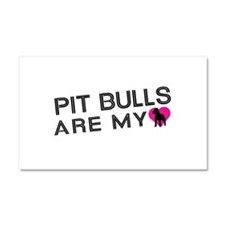 Pit Bulls Are My Love Car Magnet 20 x 12