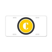 Yellow Aluminum License Plate