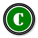 Letter c Round Car Magnets