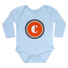 Orange Long Sleeve Infant Bodysuit