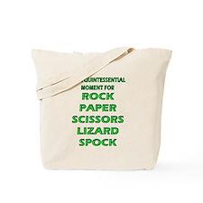 Rock, Paper, Scissors, Lizard, Spock Tote Bag