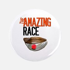 """The Amazing Race Pearl Farming 3.5"""" Button"""