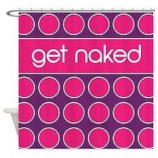 purple pink dot Shower Curtain