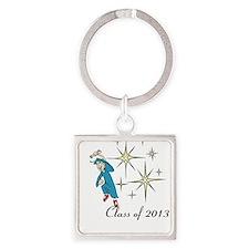 Cute 2013 graduation charms Square Keychain