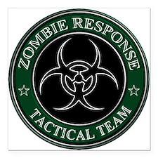 "Zombies! (ZRTT Green/White) Square Car Magnet 3"" x"