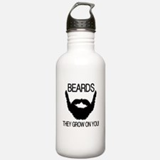 Beards they grow on you Water Bottle