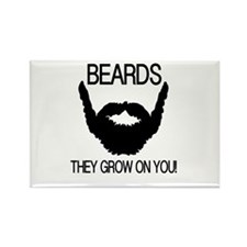 Beards they grow on you Rectangle Magnet