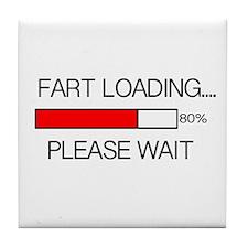 Fart Loading Please Wait Tile Coaster