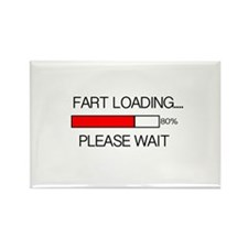 Fart Loading Please Wait Rectangle Magnet