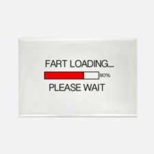 Fart Loading Please Wait Rectangle Magnet
