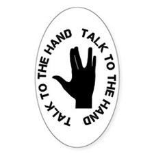 Vulcan Talk To The Hand Decal