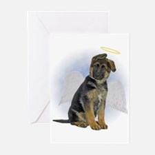 German Shepherd Sympathy Greeting Cards (Pk of 20)