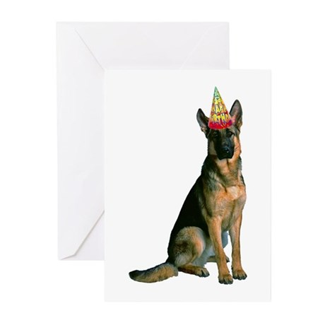 German Shepherd Birthday Greeting Cards (Pk of 10)