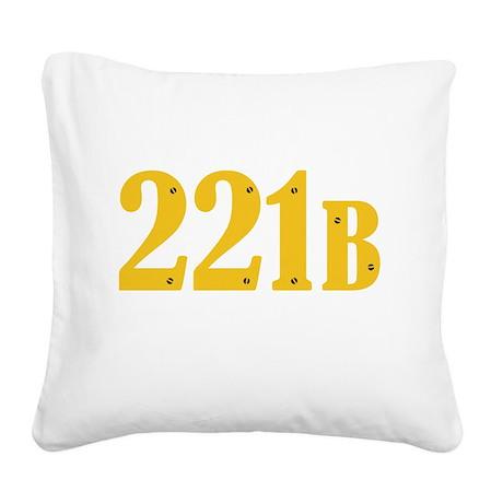 221B Square Canvas Pillow