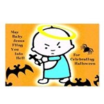 Baby Jesus Flings You Into Hell Postcards - 8 Pak