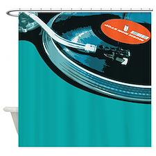DJ Turntable Shower Curtain