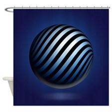 Blue Orb Shower Curtain