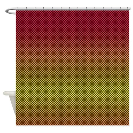 Red Yellow Dots Shower Curtain By Thehomeshop
